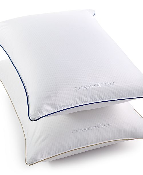 Charter Club CLOSEOUT! Vail Elite Soft Density European White Down Standard/Queen Pillow, Hypoallergenic UltraClean Down, Created for Macy's