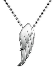 Little Faith Wing Pendant in Sterling Silver