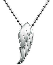 Alex Woo Little Faith Wing Pendant in Sterling Silver