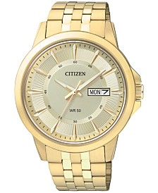 Citizen Men's Gold-Tone Stainless Bracelet Watch 41mm BF2013-56P