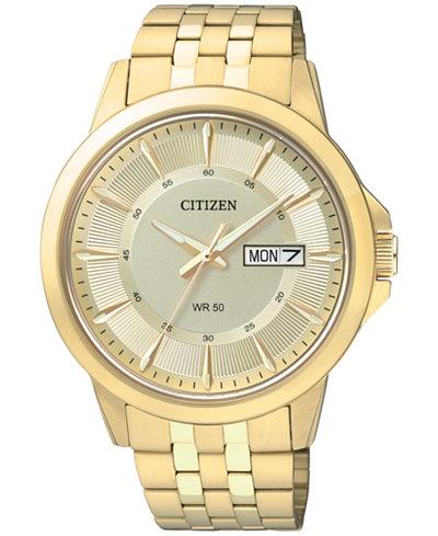 Citizen Men's Gold-Tone Stainless Bracelet Watch 41mm BF2013-56P