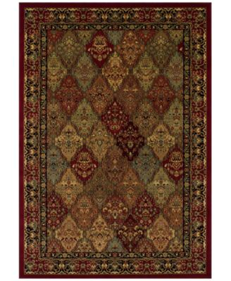 "CLOSEOUT! St. Charles WB38 Red 5'1"" x 7'5"" Area Rug"