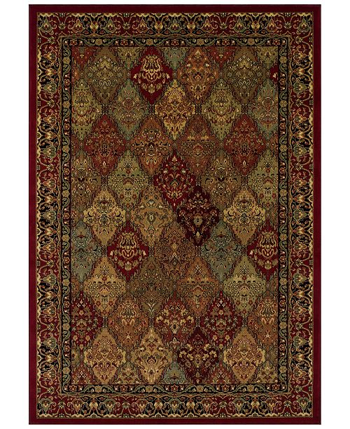 "Dalyn CLOSEOUT! St. Charles WB38 Red 5'1"" x 7'5"" Area Rug"
