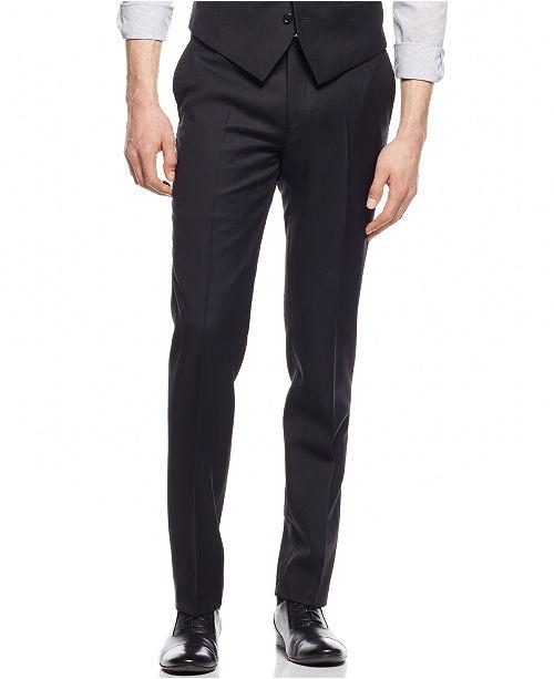 Bar III Black Solid Extra Slim-Fit Pants