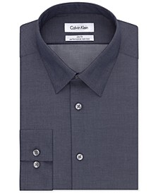 Men's Slim-Fit Non-Iron Performance Herringbone Dress Shirt