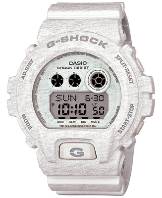 G-Shock Men's Digital White Heathered Resin Strap