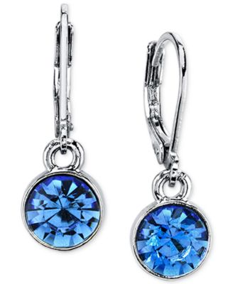 Image of 2028 Round Crystal Drop Earrings, a Macy's Exclusive Style