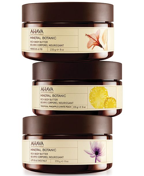 Ahava Mineral Botanic Rich Body Butter Collection