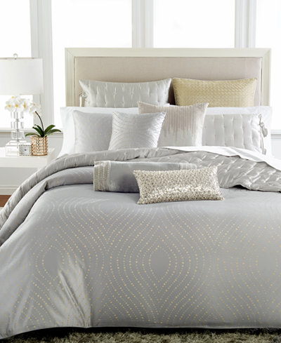 Hotel Collection Finest Silver Leaf Bedding Collection, Created for Macy's