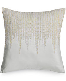 "Hotel Collection Finest Silver Leaf 20"" Square Decorative Pillow"