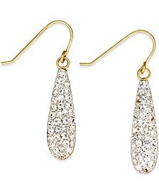 Crystal Drop Earrings in 10k Gold