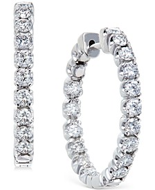 Diamond Hoop Earrings in 14k White Gold (2-1/2 ct. t.w.)