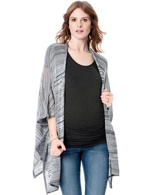 Sweet Romeo Maternity Open-Front Knit Cardigan
