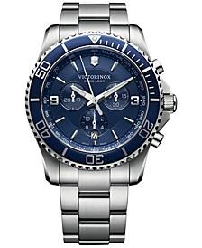 Men's Chronograph Maverick Stainless Steel Bracelet Watch 43mm 241689