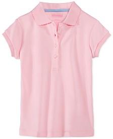 Nautica Little Girls School Uniform Picot-Trim Polo