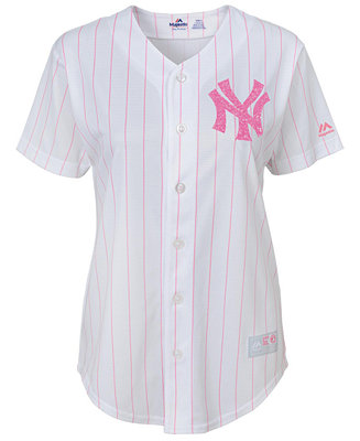 f539d96795 Majestic Girls' New York Yankees Pink Glitter Jersey & Reviews ...