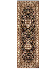 "CLOSEOUT! KM Home Area Rug, Princeton Ardebil Black 2'7"" x 7'10 Runner Rug"