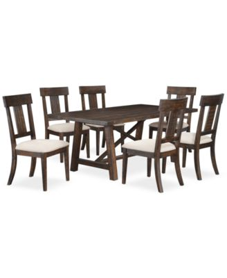 CLOSEOUT! Ember 7 Piece Dining Room Furniture Set, Created for Macy's,