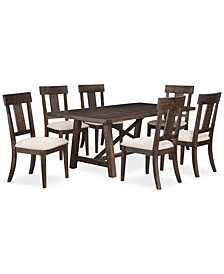 Ember 7 Piece Dining Room Furniture Set, Created for Macy's,