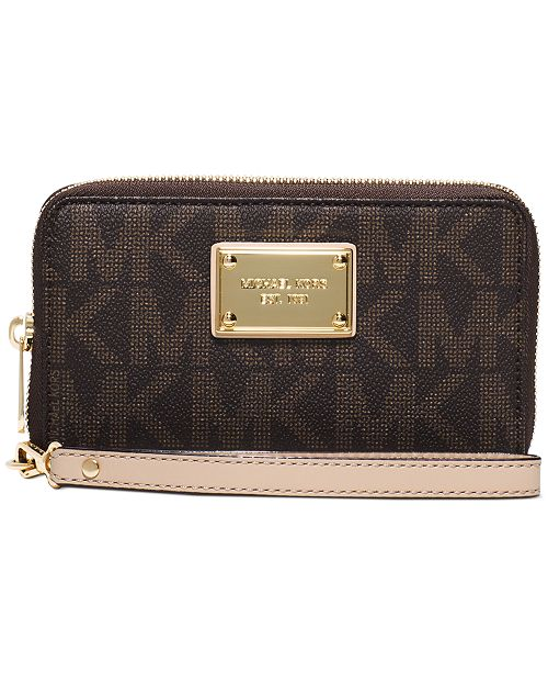 9ca15c2d4cf7 Michael Kors Jet Set Large Smartphone Wristlet & Reviews ...