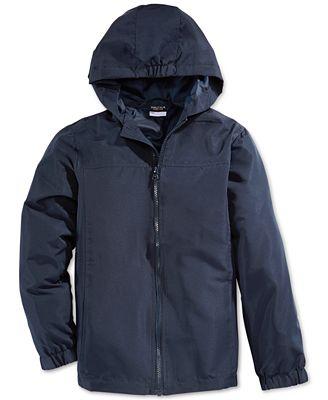 Nautica School Uniform Hooded Packable Jacket, Big Boys ...