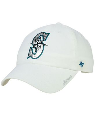 47 Brand Women s Seattle Mariners Adjustable Clean Up Cap - Sports ... 43816e8dd6