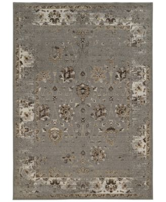 "CLOSEOUT! Spectrum Mod Isfahan Grey 5'3"" x 7'6"" Area Rug"