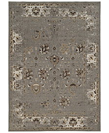"CLOSEOUT! Kenneth Mink Spectrum Mod Isfahan Grey 5'3"" x 7'6"" Area Rug"