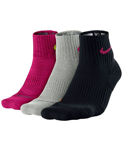 8d695bed2 Nike Dri-FIT Cushion Quarter Socks 3-Pack & Reviews - Socks - Men ...