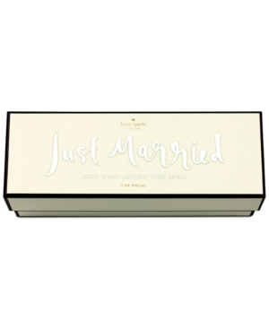 kate spade new york Just Married Bridal Decal