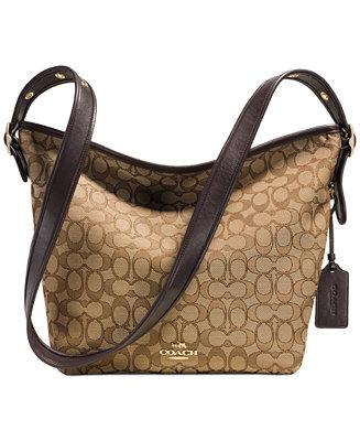 Coach Dufflette In Signature Fabric Handbags