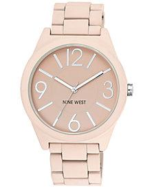 Nine West Women's Blush Pink Rubberized Bracelet Watch 42mm NW/1679PKPK