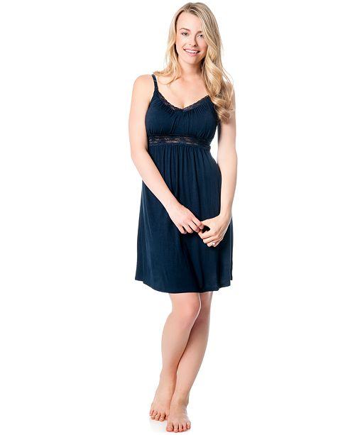 091a301ed46 Jessica Simpson Maternity Lace-Trim Nursing Nightgown & Reviews ...