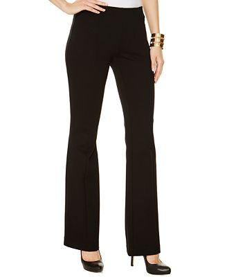 INC International Concepts Curvy-Fit Pull-On Bootcut Ponte Pants, Created for Macy's