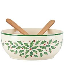 Holiday Salad Bowl and Servers