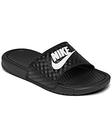Nike Women's Benassi JDI Swoosh Slide Sandals from Finish Line