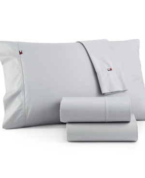 Image of Tommy Hilfiger Solid Core Twin Sheet Set Bedding