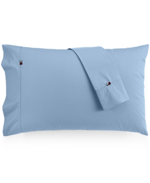 Image of Tommy Hilfiger Solid Core Pair of Standard Pillowcases Bedding
