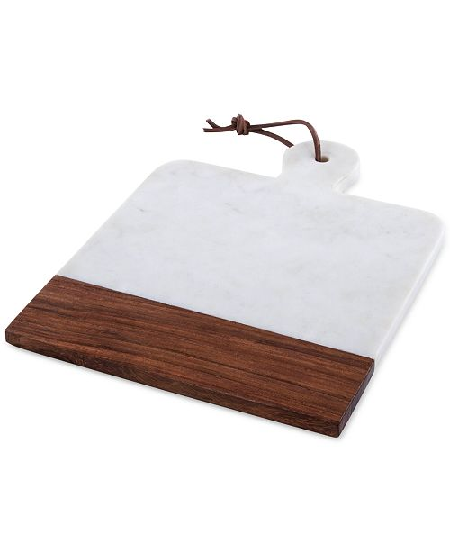 Thirstystone Marble Square Paddle Cheeseboard with Wood Accent