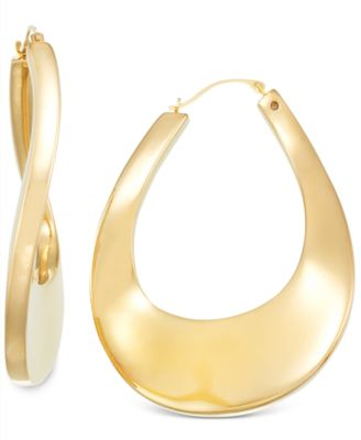 Signature Gold Bold Twist Hoop Earrings in 14k Gold over Resin