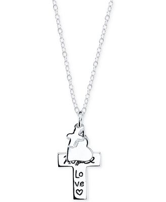 Faith hope love pendant necklace in sterling silver necklaces faith hope love pendant necklace in sterling silver aloadofball Choice Image