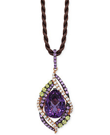 Le Vian Crazy Collection® Multi-Stone Pendant Necklace (14 ct. t.w.) in 14k Rose Gold, Created for Macy's