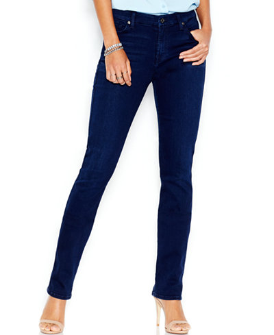 7 For All Mankind Kimmie Slim Illusion Luxe Straight-Leg Jeans ...