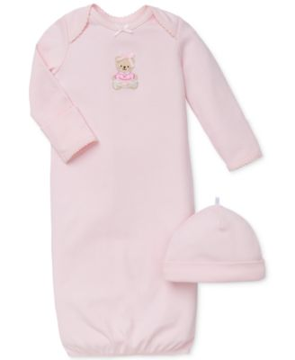Baby Girls Sweet Bear Hat & Gown Set