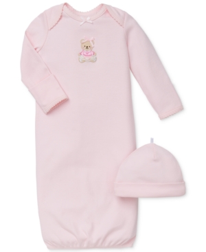 Little Me Baby Girls Sweet Bear Hat & Gown Set