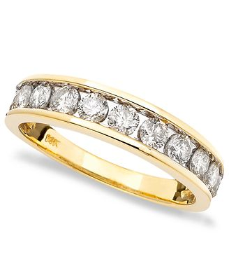 Diamond Band 1 ct t w in 14k Gold Rose Gold or White Gold