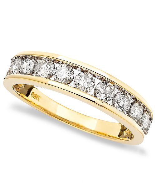 Macy's Diamond Band (1 ct. t.w.) in 14k Gold, Rose Gold or White Gold