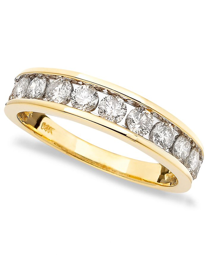 Macy's - Diamond Band (1 ct. t.w.) in 14k Gold, Rose Gold or White Gold