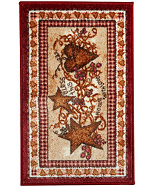 "Avanti Heart and Stars 20"" x 30"" Bath Rug"