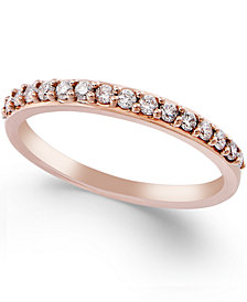 Diamond Ring in 14k White, Yellow or Rose Gold (1/4 ct. t.w.)